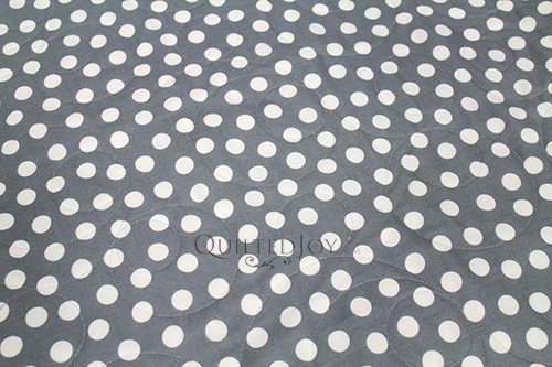 Grey and White Polka Dot Quilt Backing