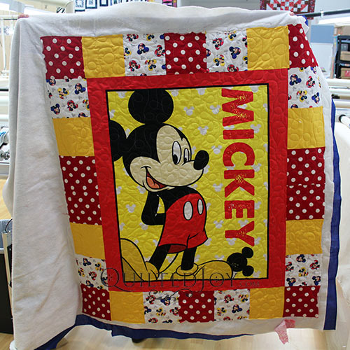 Mickey Mouse Panel Quilt