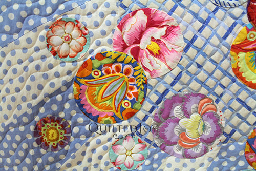Custom quilting an applique quilt doesnt have to be complicated