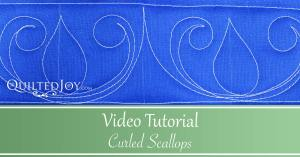 """""""Video Tutorial Curled Scallops"""" Learn how to quilt the curled scallops quilting design"""