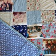 Family, photo, quilt, commission, for, Annalie's, mum