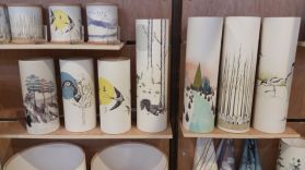 charming ceramic picture pots