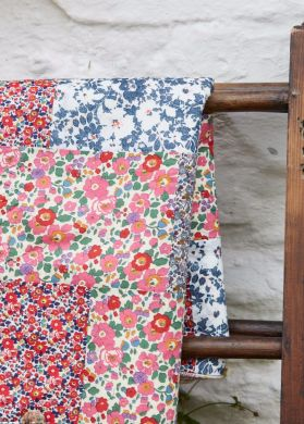 Liberty of London summery patchwork quilt