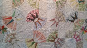 Intrigued by this patcwork pattern and impressed with the quilting prowess in this.