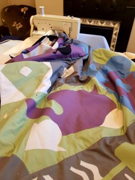 Quilt commission in progress.