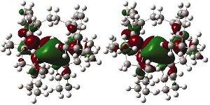 Representação tridimensional de uma molécula de ácido que foi modificada para base.