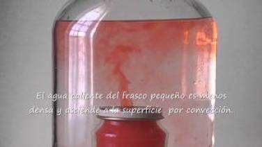 Montaje del experimento: Volcán submarino