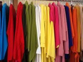 ropa telas de colores