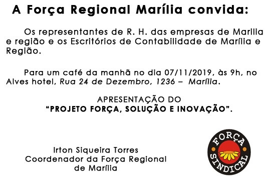 A Forma Regional Marília convida