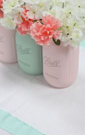 mint green mason jars