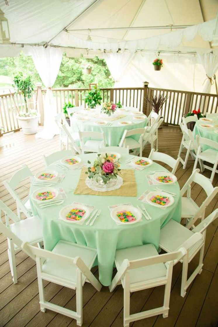 mint green pink venue