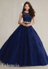 navy quinceanera dress