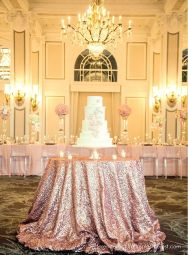 pink gold reception