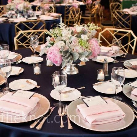 pink navy table
