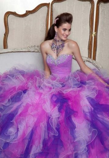 pink purple quinceanera dress1