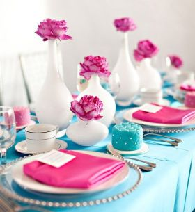 tiffany blue pink decor