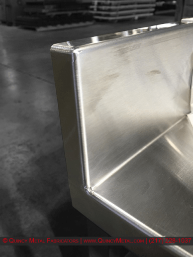 Quincy Metal Fabricators Stainless Weld Example