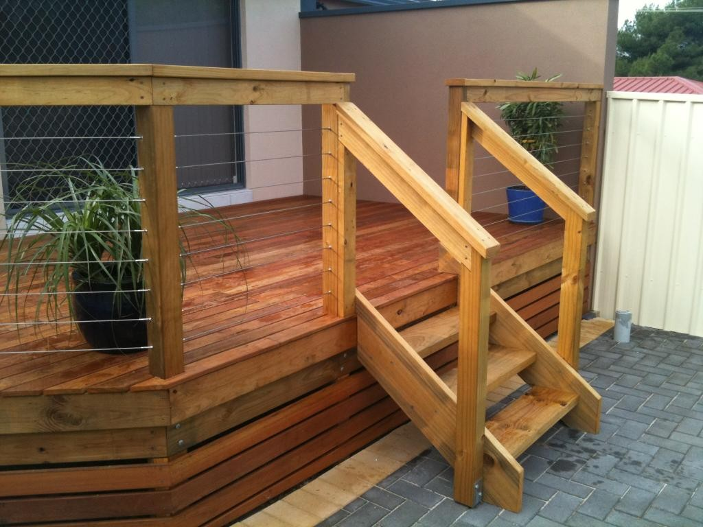 Outdoor deck stairs to finish your project - quinju.com on Backyard Patio Steps  id=50617