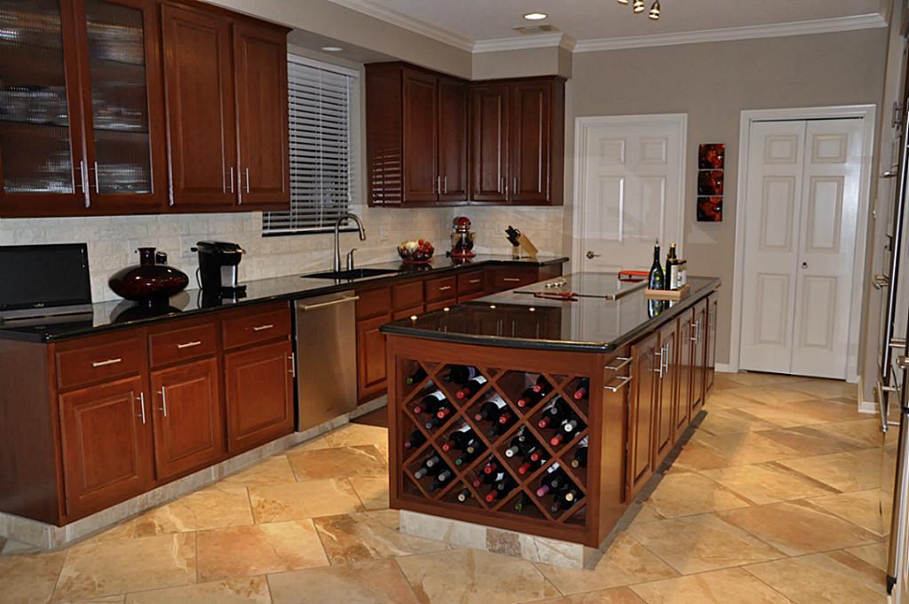 Modern-Kitchen-Island-with-Wine-Rack - quinju.com
