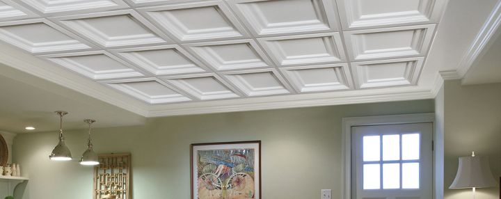 acoustical drop ceiling-finished basement ceiling-quinju.com