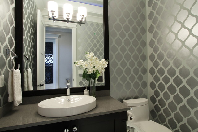 powder room makeover-contemporary powder room-quinju.com