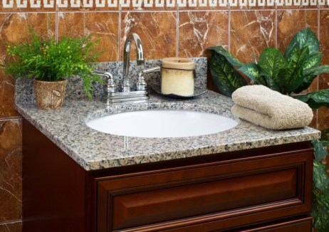 powder room makerover-new vanity countertop-quinju.com