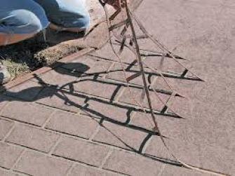 stenciled concrete www.quinju.com