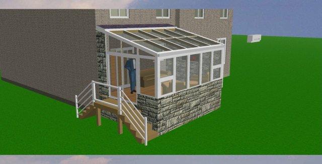 Sunroom Concept Rendering / quinju.com