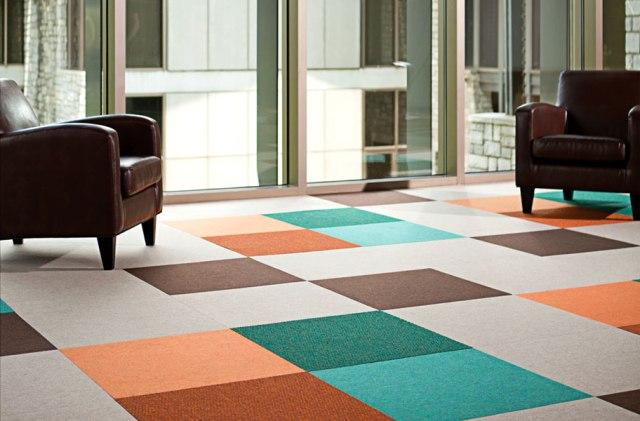 recycled-carpet tiles-eco flooring-flooring trends-quinju.com