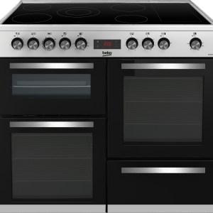 Beko KDVC100X 100cm Range Cooker Ceramic Top Stainless Steel