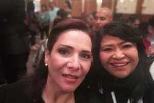 @MildredAvilaVer calificó de productivo el encuentro con @lopezobrador_