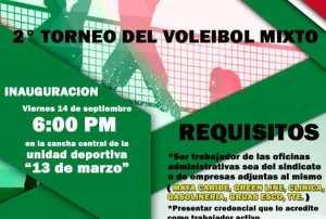 2o. Torneo de Volilebol Mixto se realizará 14 de septiembre : @taxistascancun
