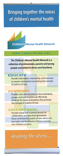 Children's Mental Health Network banner stand