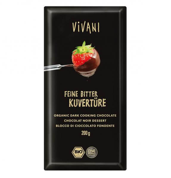 Chocolate para cobertura ecológico al 70% Vivani 200 gr