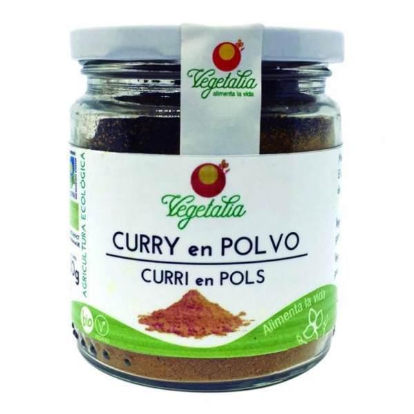 Curry en polvo. Mezcla de especias de curry, de Vegetalia. 80 gramos de sabor asíatico. De agricultura ecológica.