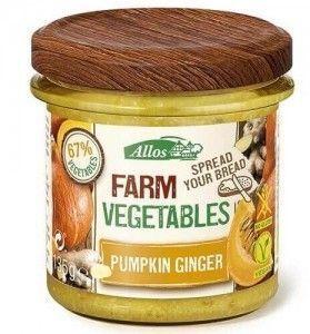 Paté Allos de calabaza, cúrcuma y jengibre. Vegano. De agricultura ecológica.