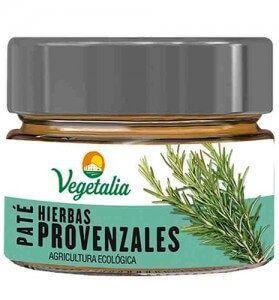 Paté vegetal de hierbas provenzales. Con tofu. Una delicia vegetal de agricultura ecológica. De Vegetalia.