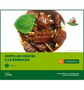 Costillas vegetales a la barbacoa Vegesan 250 gramos
