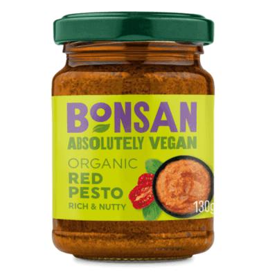 pesto rojo vegano