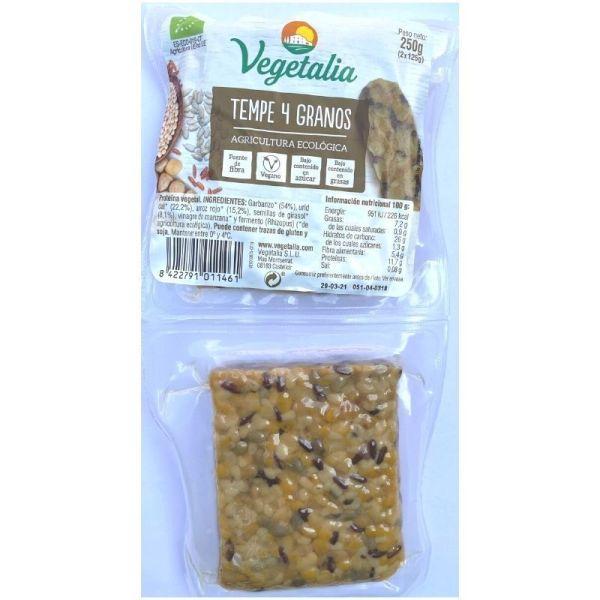 tempeh con granos ecológicos