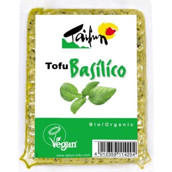 tofu bio con sabor a albahaca