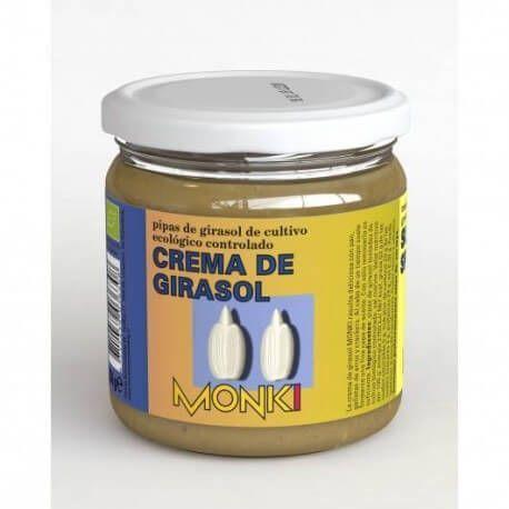 Crema de semillas de girasol Monki, de cultivo ecológico controlado. 330 gramos.Para untar en pan en plan gordivegan. O para guisos y sopas en plan healthy
