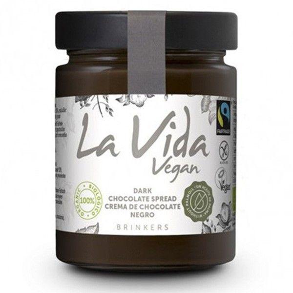 600 gramos de crema de chocolate negro vegana.