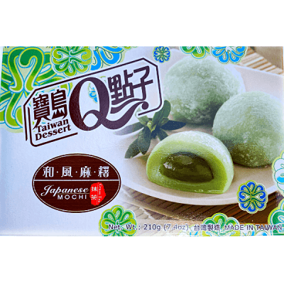 mochi de té verde sin refrigeración