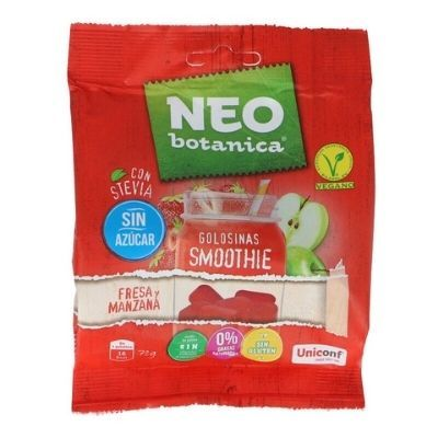 caramelos sin azúcar veganos Neo Botánica de fresa y manzana