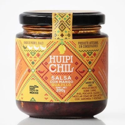 salsa vegana de mango con chile