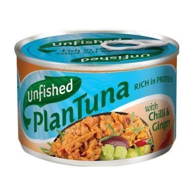 atún vegano con soja texturizada y jengibre unfished plantuna