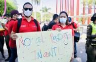 Alcaldía realizó caminata para sensibilizar a la comunidad contra el Trabajo Infantil