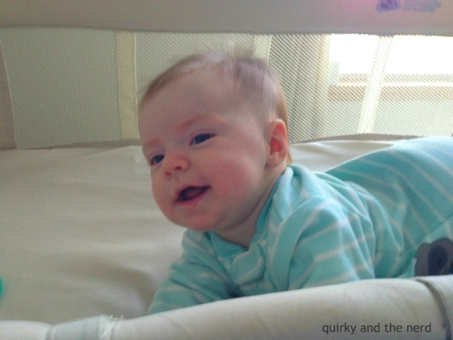 We never used a crib after baby was born. Before she moved into a floor bed, we used a co-sleeper bassinet and we loved it! Read about why the co-sleeper bassinet was the best purchase we made. quirkyandthenerd.com