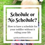 We Have a Toddler Schedule So We Can Break It